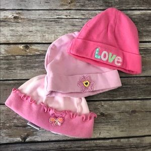 3 hats for baby
